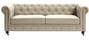 Chesterfield twee zits lederen sofa